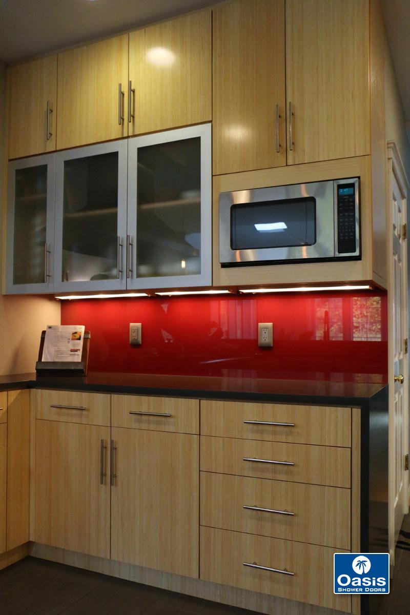 Back Painted Glass Backsplashes Oasis Shower Doors