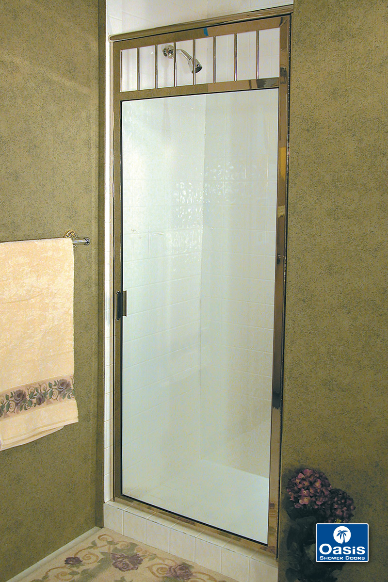 semiframeless degree crystalline oil enclosure custom bronze shower post rubbed with door project frameless semi glass