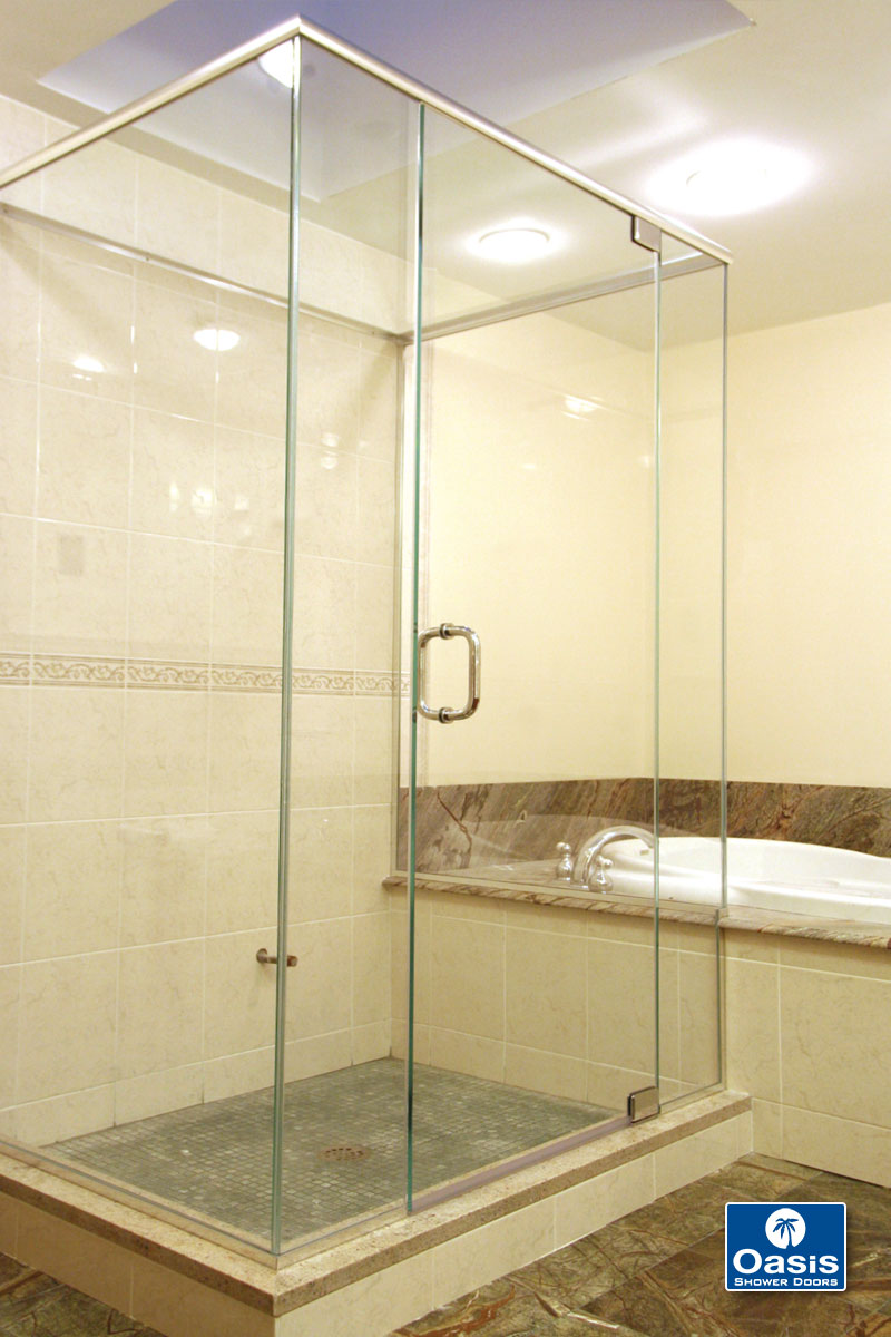 panel portfolio glass stationary enclosure merritt door frameless with showers shower and