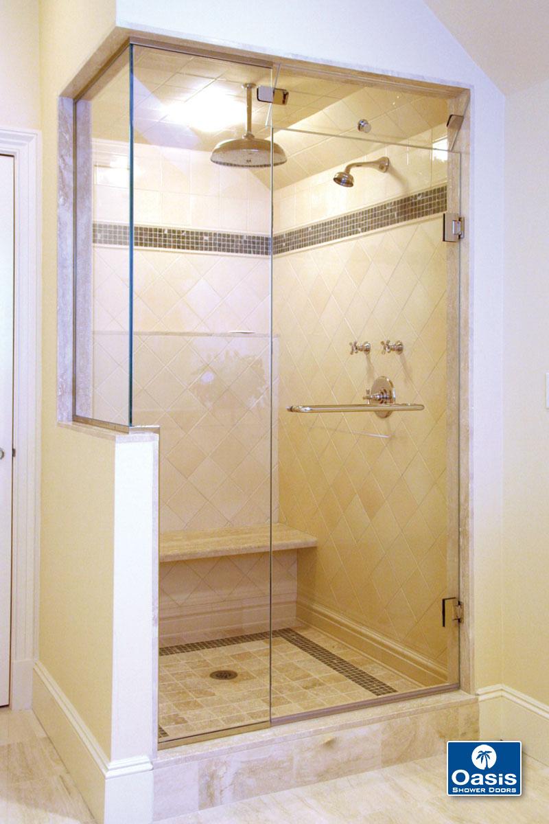 Oasis tub shower glass doors - Steam3