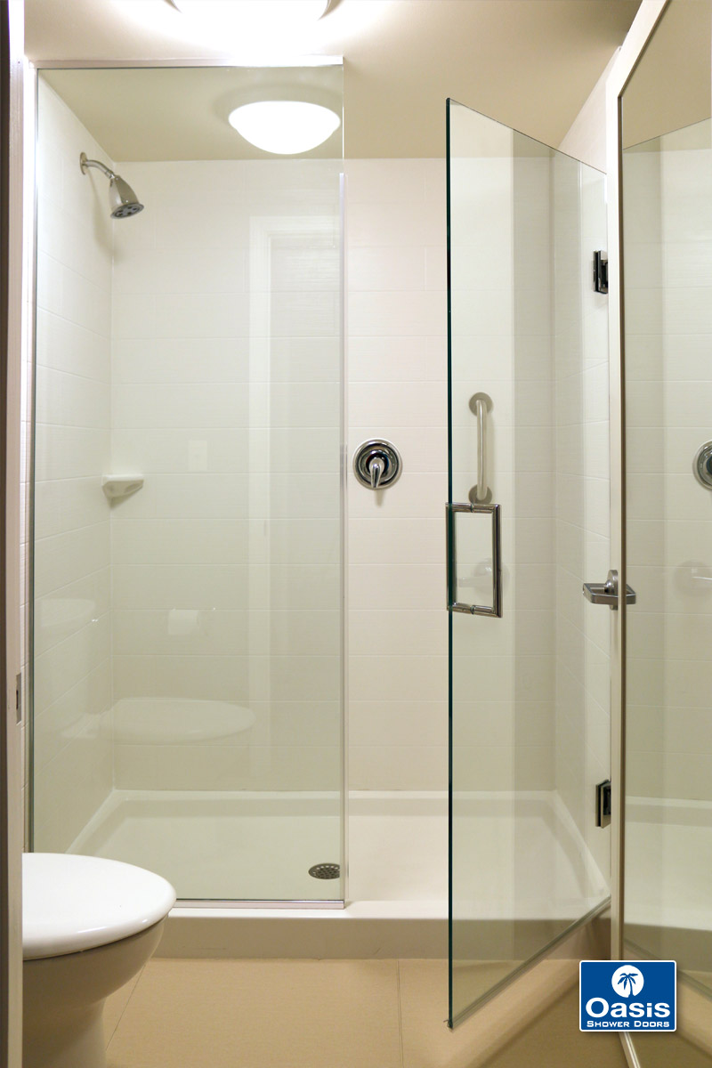 frameless glass shower spray panel oasis shower doors ma