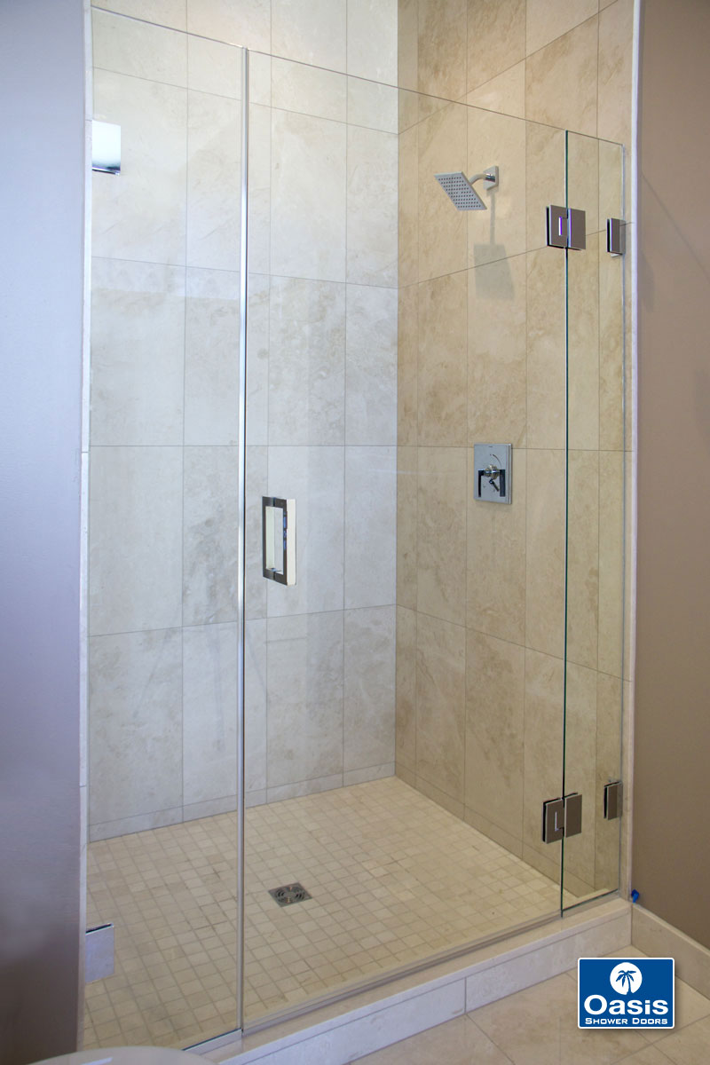 frameless glass shower spray panel oasis shower doors ma ct vt nh. Black Bedroom Furniture Sets. Home Design Ideas