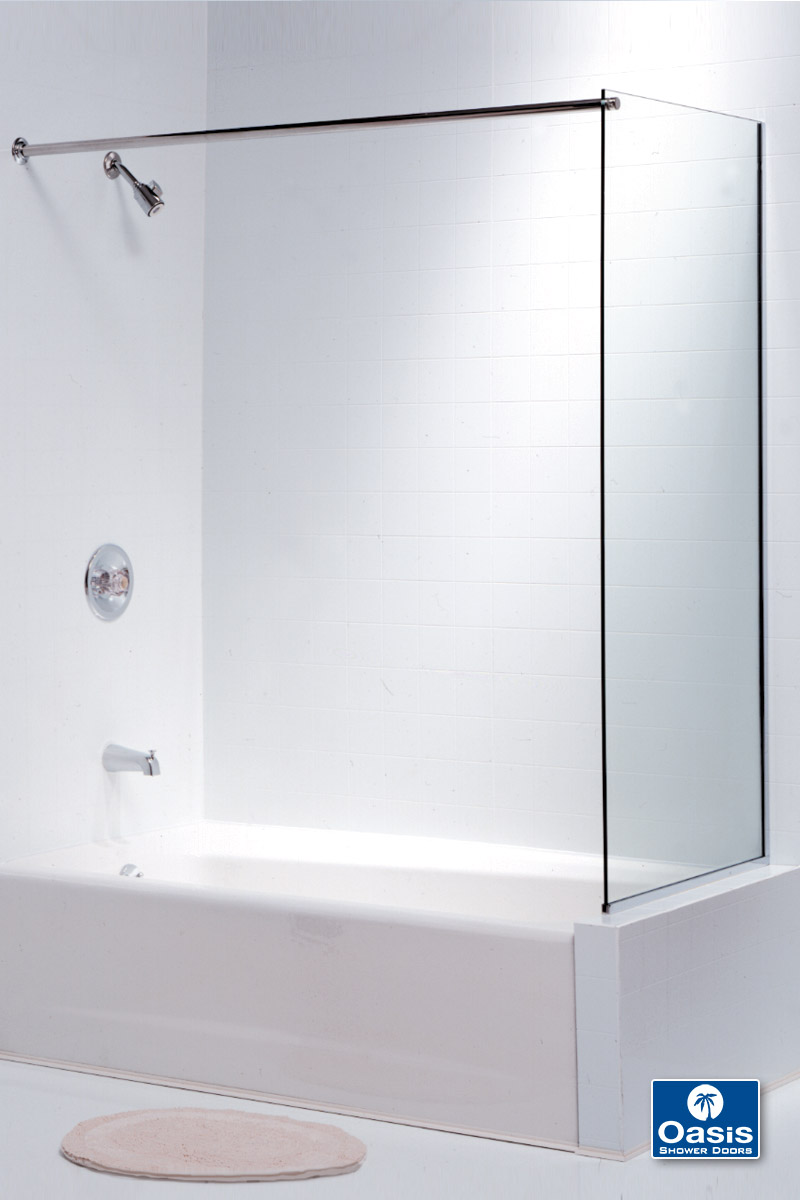 Frameless Glass Shower Spray Panel | Oasis Shower Doors MA ...
