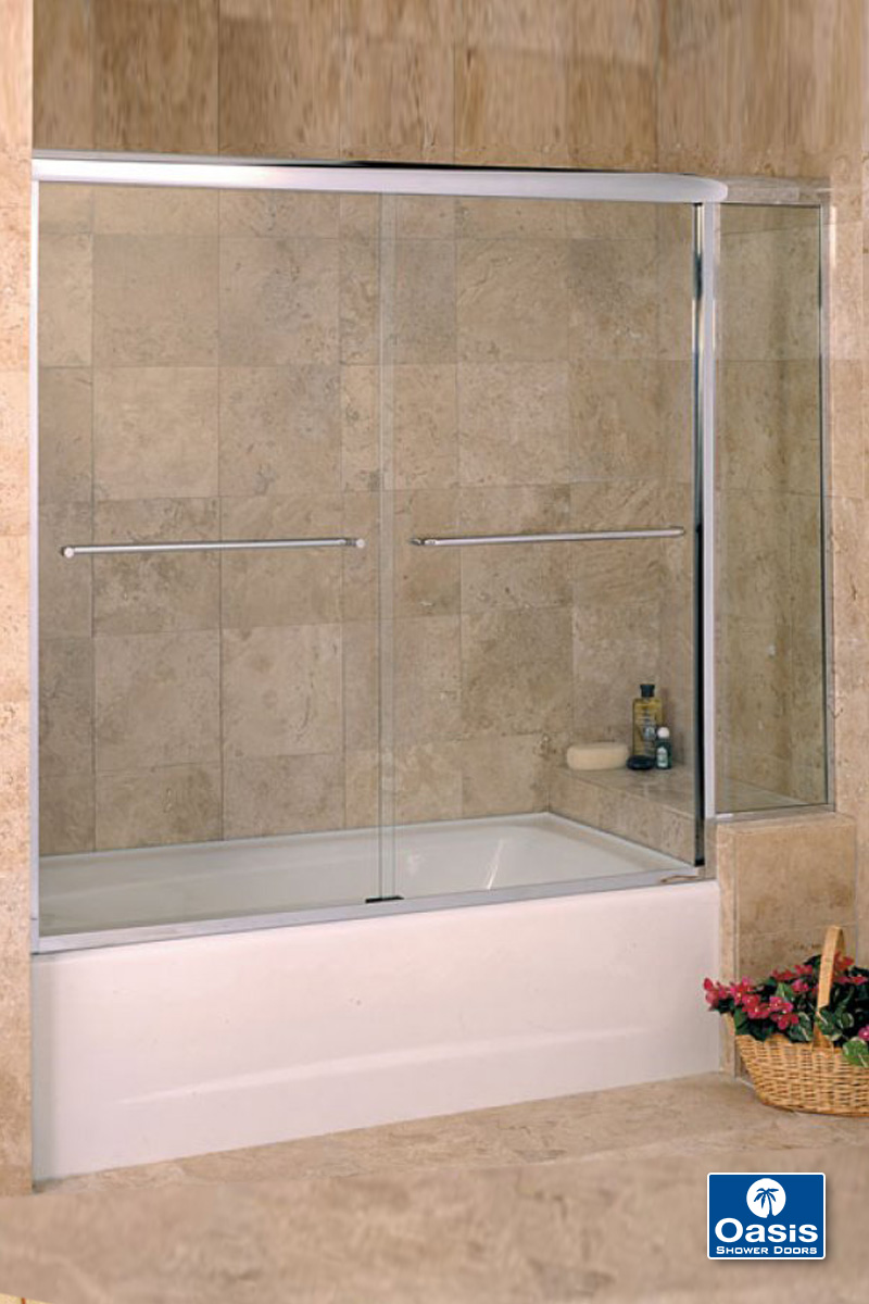 Frameless By Pass Amp Sliding Shower Doors Oasis Shower