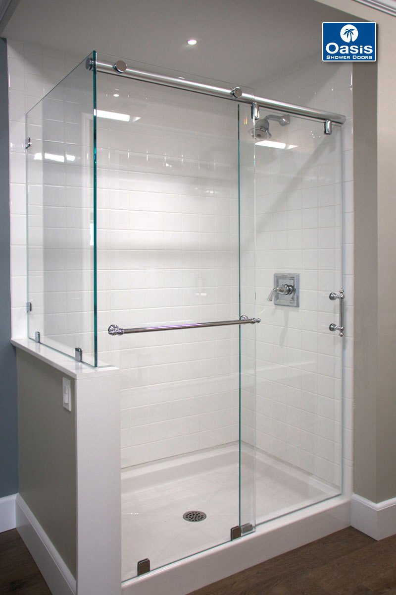Frameless By P Sliding Shower Doors Oasis