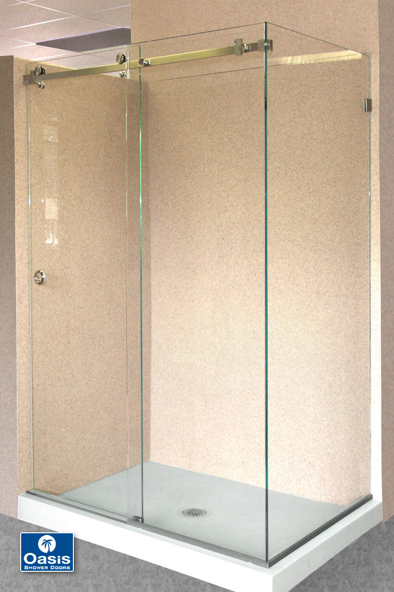 frameless by pass sliding shower doors oasis shower doors boston ma. Black Bedroom Furniture Sets. Home Design Ideas