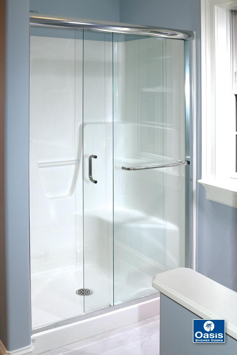 Frameless By-Pass & Sliding Shower Doors | Oasis Shower Doors ...