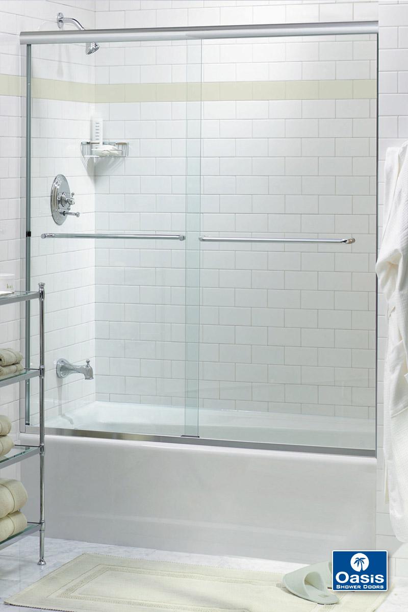 Frameless By Pass Amp Sliding Shower Doors Oasis Shower