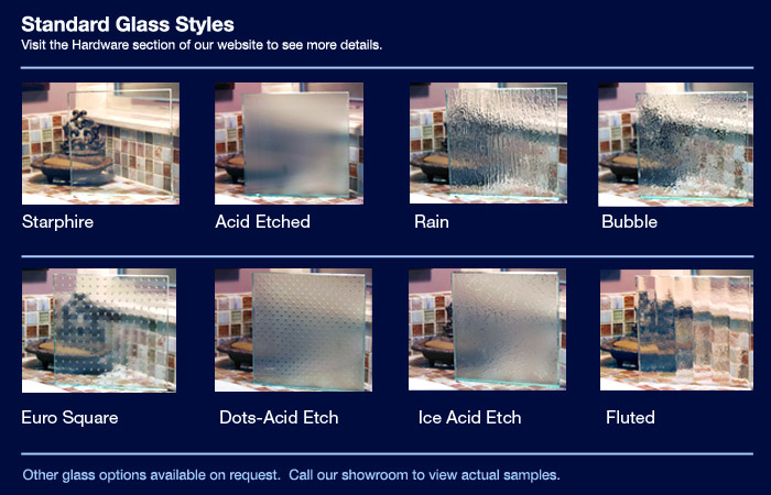 Frameless Shower Door Glass Types