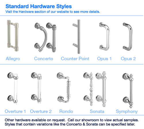 Shower Door Hardware Styles