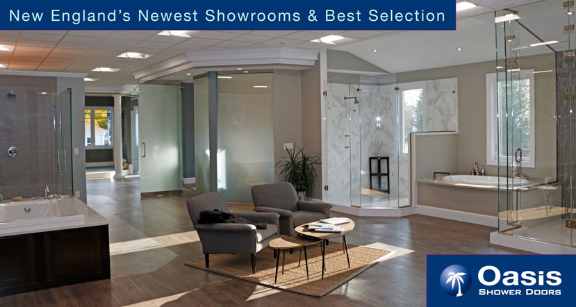 Oasis shower doors showroom