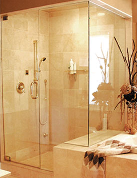Semi Frameless Shower Enclosures full and semi-framed glass shower doors - boston, ma