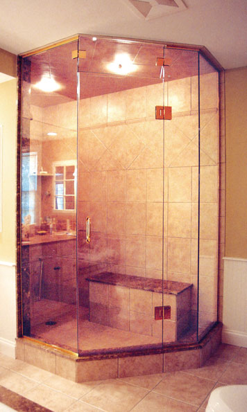 Frameless Glass By-Pass Shower Door